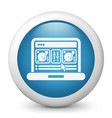 deejay mixing console icon vector image