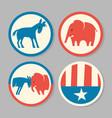 democrat donkey republican elephant designs vector image vector image