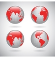 Earth globe icons set vector image