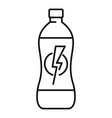 energy drink tin icon outline style vector image vector image