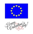 european flag love isolated on white background vector image