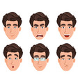 face expressions of business man vector image vector image