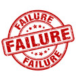 failure red grunge stamp vector image vector image