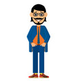 fashionable bearded man with a stylish haircut vector image