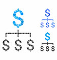 financial hierarchy composition icon circle vector image vector image