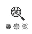fingerprint iconssymbol for graphic and webdesign vector image vector image