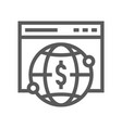 fintech industry line icon vector image vector image