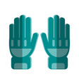 fire fighter gloves vector image vector image