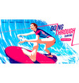 for ui or a landing page surfing sport the vector image