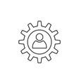 Gear icon outline vector image vector image