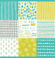 geometric hand drawn digital papers patterns vector image vector image