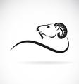 Goat head design vector image vector image