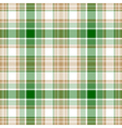 Green gold white check fabric texture seamless vector image vector image