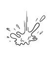 hand drawn splash liquid paint or water explosion vector image vector image