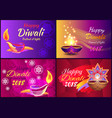 happy diwali festival of light vector image vector image