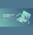 information security landing page template vector image vector image