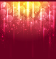 light gold and red abstract background vector image vector image