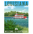 louisiana travel poster or sticker vector image vector image