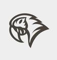 macaw logo icon design vector image vector image