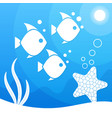 magical beautiful underwater background blue sea vector image vector image