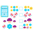 math educational game for children complete the vector image