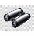modern design of binoculars on transparent vector image