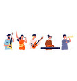 musicians and singers people with music vector image