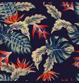 night jungle seamless pattern vector image vector image