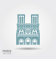 notre dame de paris cathedral france vector image