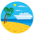 passenger cruise liner vector image vector image