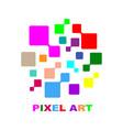 pixel logo technology logo creative design eps vector image vector image