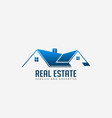 real estate roofs house logo for business vector image vector image