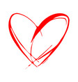 red heart icon love symbol valentines day vector image