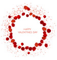 red rose petals valentine s card background vector image