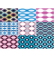 seamless geometric patterns set geometric simple vector image