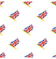 seamless pattern with flags united kingdom vector image