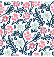 seamless pattern with flowers in doodle style vector image vector image