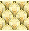 seamless pattern with gold ethnic motifs vector image vector image