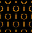 seamless wheat ear pattern golden ears on black vector image vector image