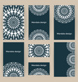 set business forms with mandalas cards templates vector image