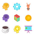 smart worker icons set cartoon style vector image