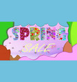 spring sale poster background with beautiful vector image