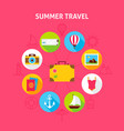 summer travel concept vector image vector image