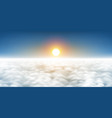 sun above clouds vector image