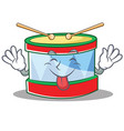 tongue out toy drum character cartoon vector image vector image