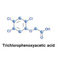 trichlorophenoxyacetic acid synthetic auxin vector image vector image