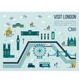 Visit London vector image vector image