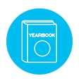 Yearbook line icon vector image vector image