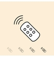 icon of remote control vector image
