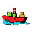 dry cargo icon cartoon vector image
